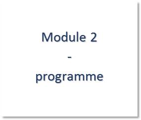 Module 2 - programme